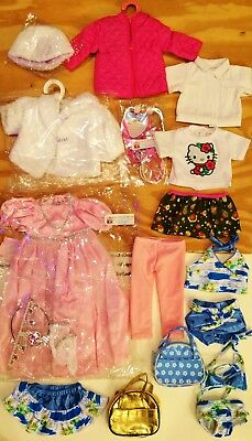 """Huge Lot DOLL CLOTHES for 18"""" American Girl, 5 Outfits, Princess Dress  NEW #49A"""