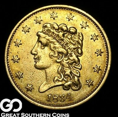 1834 Quarter Eagle, $2.5 Gold Classic Head, Highly Collectible Early Gold Type!
