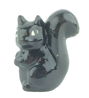 Cute Tiny Ceramic Black Skunk Figurine 1.75""