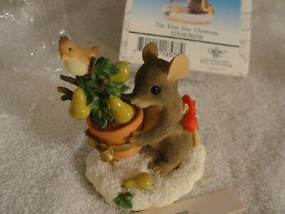 """Charming Tails  """"the First Day Christmas"""" Item 98/210 Fitz Floyd New In Box"""