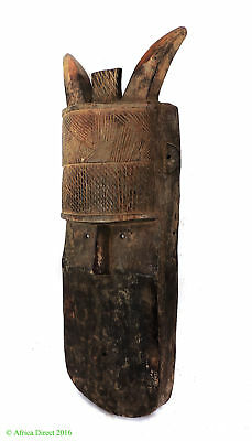 Toma Loma Horned Mask Guinea African Art 24 Inch