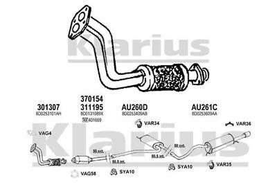 Exhaust Pipe FRONT For AUDI A4 18 95 99 B5 ADR 8D Petrol Estate Saloon