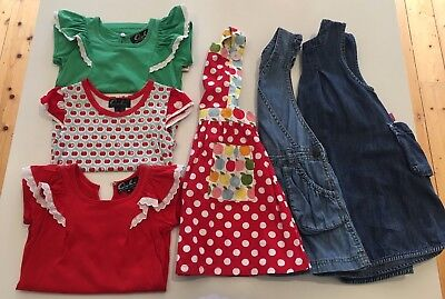 Bulk Girls Size 4 Lot, Inc Oobi Dress, 3 X Flutter Tees, 2 Denim Pinafores