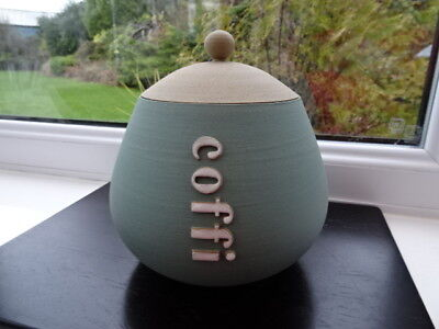 Glosters Porthmadog Handmade Lidded Coffi (Coffee) Pot Duck Egg Signature Shape