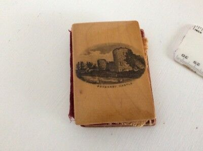 mauchline ware Needle Book Pevensey Castle East Sussex