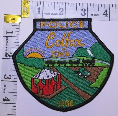 Colfax Iowa Police Department Shoulder Patch 699 Picclick