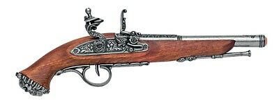 Denix 18th Century Pirate Flintlock Pistol Replica Gun - Gray Finish