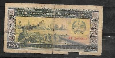 LAOS LAO #30a 1979 GOOD CIRC OLD 100 KIP BANKNOTE BILL PAPER MONEY CURRENCY