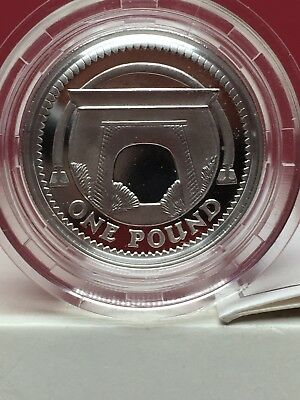 2006 United Kingdom Silver Proof One Pound Egyptian Arch Coin Box & Coa Free Shi