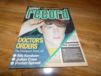 Record Mirror - 3/3/84, Thompson Twins / Prefab Sprout / Nik Kershaw / Ian Page