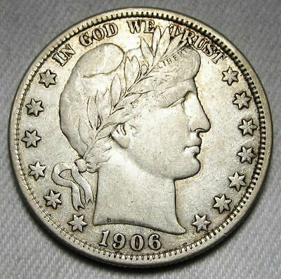 1906-D Barber Half Dollar Lusterous CH+ VF AD599