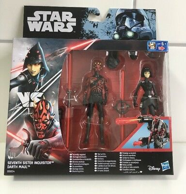 "Star Wars Seventh Sister Inquisitor vs Darth Maul Hasbro Rebels 3,75"" Rogue One"