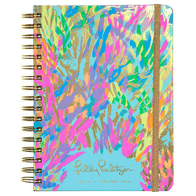 New Lilly Pulitzer 17 Month Large Agenda Planner 2017-2018 Sparkling Sands