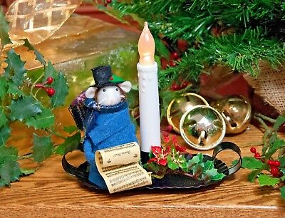 Byers Choice Dickens Dickensian w/Sheet Music on Candlestick Nightlight Adorable
