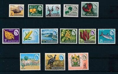 [G120779] Rhodesia 1966 definitive very fine MNH set