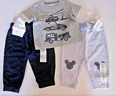Boy's Lot of Clothes ~ 2 Bottoms, 1 L.S. Top ~ Size 6 Months ~Mickey Btms.~NWT
