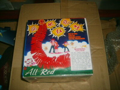 Firecracker Fireworks Labels All Red Crackers Roll In Box