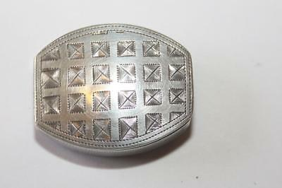 Georgian solid silver patch box / vinaigrette /  pill box 1808 Cocks & Bettridge