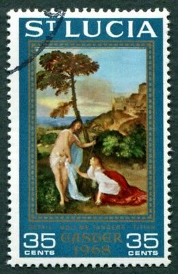 ST. LUCIA 1968 35c SG248 used FG Easter Noli me tangere (detail by Titian) #W53