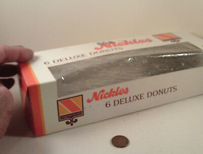 "ORIGINAL 1970's-vintage (Paperboard) ""NICKLES Bakery ~ DONUTS"" (empty) BOX!"