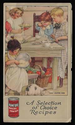 "Folding Card - Rumford Baking Powder, ""A Selection of Choice Recipes"""
