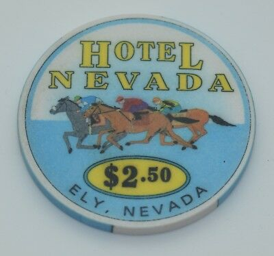 Hotel Nevada $2.50 Casino Chip Ely Nevada ChipCo. 1996 FREE SHIPPING