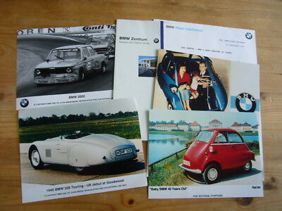 BMW: Isetta, 328, 2002, historic photos and press releases small job lot