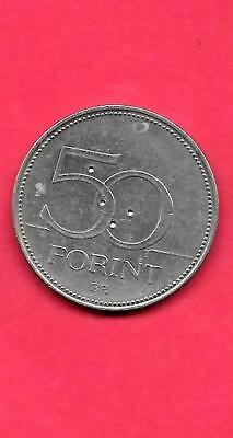 Hungary Hungarian Km697 2006 Vf-Very Fine-Nice Huge Old 50 Forint Bird Coin