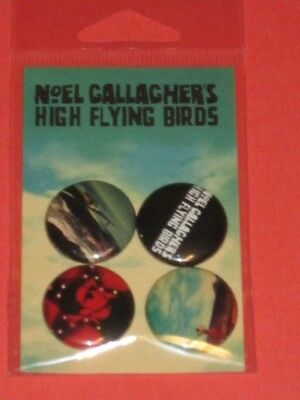 Noel Gallagher - High Flying Birds Promotion 4 x Pin Pack pins promo lp cd