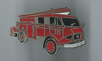 Pin's pompiers Fourgon Citroën véhicule Fire truck badge Fireman Bomberos