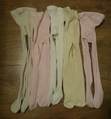 Girl's Tights Bundle x 5 pairs Age 3-4 years