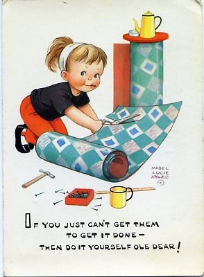 Mabel Lucie Attwell - Do It Yourself - Artist Drawn Postcard