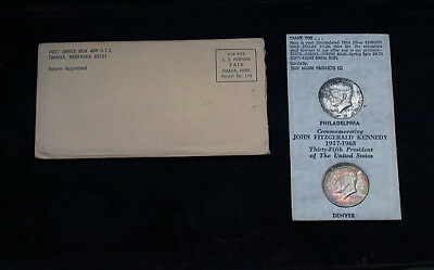 1964 P/D Tidy House Colorful Toned Uncertified Franklin Halves & Envelope mb1406