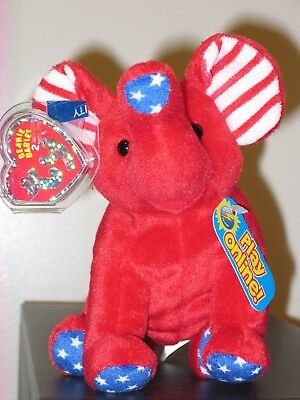 Ty 2.0 Beanie Baby ~ RIGHTY (2008) Elephant ~MINT with MINT TAGS -Stuffed Animal