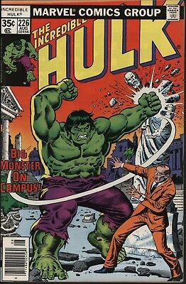 Incredible Hulk #226 Vf/nm 9.0 Glossy Cover White Pages From 1978