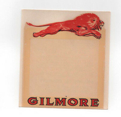 Vintage Rare!! Gilmore Red Lion Oil & Gas Station Advertisement Decal