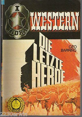 INDRA (RODEO) WESTERN 1001 / Geo Barring / (1970-1973 Indra-Verlag)