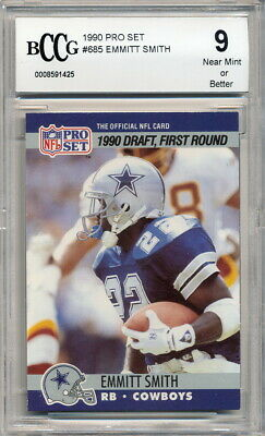 1990 Pro Set Emmitt Smith Rookie Graded Bccg 9