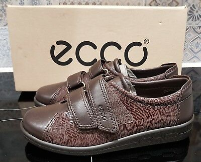 Pair Ladies Ecco Soft II Leather Casual Shoes - Size UK 3 1/2 - BNWOT