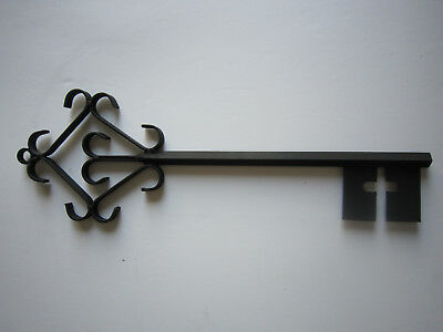 Black Wrought Iron Key ~ Decorative Wall Hanging 20""