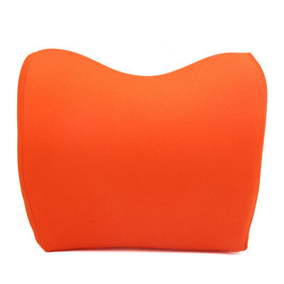 Adjustable Orange Memory Foam Car Neck Seat Head Pillow Premium Headrest Cushion