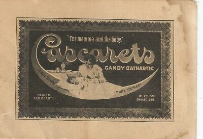 Cascarets Candy Cathartic They Work While You Sleep Victorian Trade Card c1890