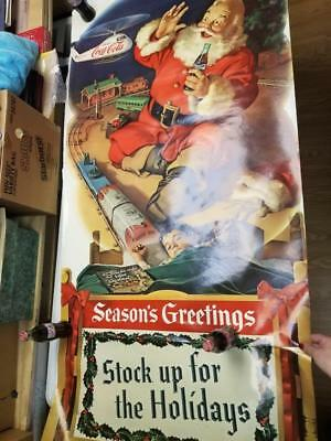 """Vintage Coke Poster-""""Spirit of St. Nick""""-With Add On"""