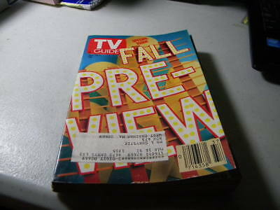 September 1990 Fall Preview TV Guide Magazine 90210 Fresh Prince Law & Order