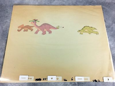 THE LAND BEFORE TIME 4-Layer Original Animation Production Cel (Don Bluth, 1988)