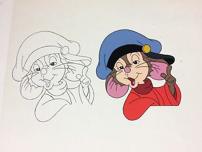 FIEVEL Original Animation Production Cel & Drawing (Universal, Don Bluth c.1990)