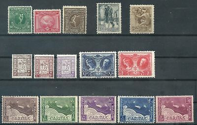 BELGIUM collection of 5 classic Semi-Postal sets MM $27