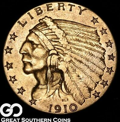 1910 Quarter Eagle, $2.5 Gold Indian ** Free Shipping!