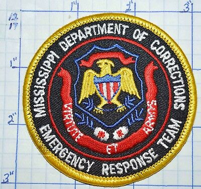 Mississippi Dept Of Corrections Emergency Response Team Ert Police Patch