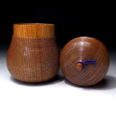 DN9: Vintage Japanese Lacquered Wooden Tea Caddy, Chaire